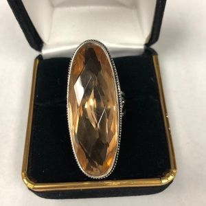 Jewelry - Peach Colored Quartz Ring.